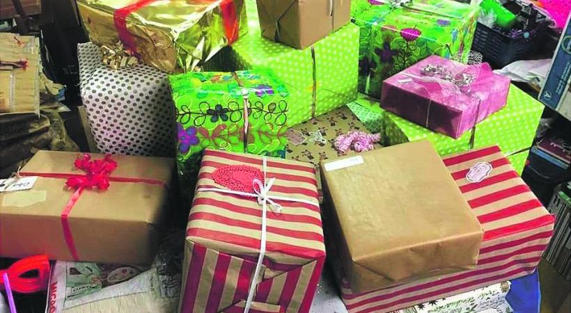 Les cadeaux seront distribués aux familles le samedi 19 décembre. DR