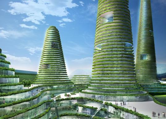 Les villes du futur ghi le journal ind pendant des genevois - Immeuble ecologique ...